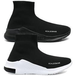 Men Elastic Ultralight Fly-Knit Socks Shoes Sports Sneakers