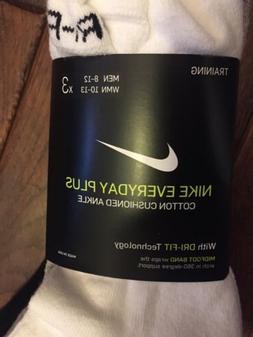 Nike Men's Everyday Plus Cotton Cushioned Ankle Socks . Larg
