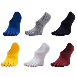 Men's Five Finger Toe Cotton Pure Sports Running Breathable