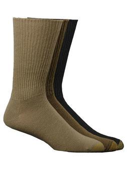 Gold Toe Men's Fluffies Crew Premium  Dress Socks - 3 Pack