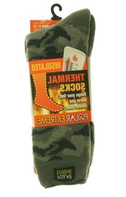 Polar Extreme Men's Insulated Thermal Socks Camo