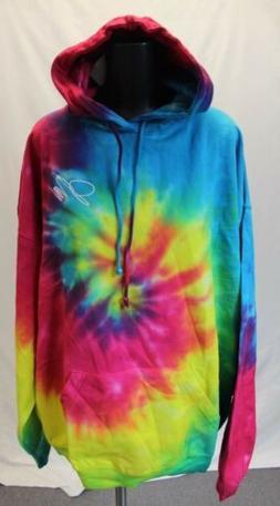 Colortone Men's L/S Tie Dye Hooded Sweatshirt SI4 Reactive R