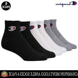 Champion Men's Logo Ankle Socks, 6-Pack CH171