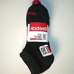 Reebok - Men's Low Cut Socks - 10 Pack - Black - Shoe Size: