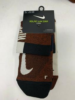 Nike Men's Multiplier Ankle Socks Men's Size L 2-Pack SX7556