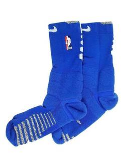 Men's Nike NBA Authentics Elite Quick Crew Blue/White Basket