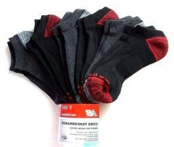New Balance Men's No Show Socks 6 Pack Large Black Core Perf