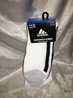 adidas Men's Originals Crew Socks, 3 Pairs, 1 color, White