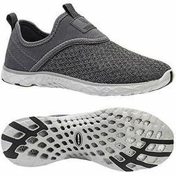 ALEADER Men's Slip-on Athletic Water Shoes All Grey 13 D US