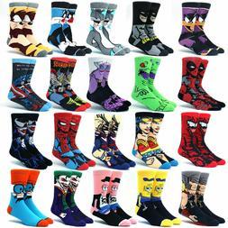 Men's Socks Cartoon Anime Star Wars Super Hero Novelty Breat