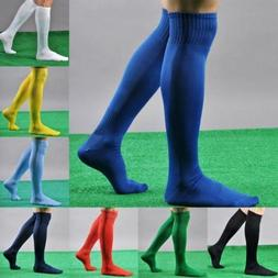 Men's Sport football Soccer Long Socks Over Knee High Sock B