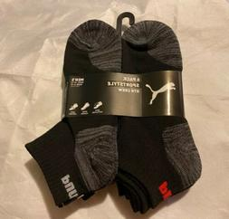 Puma Men's SportStyle 6-Pair QTR Crew Socks. Shoe Size 6-12