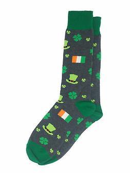Men's St Patricks Day Socks Irish Flag Clover Shamrock Lucky