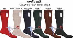 Men's Traditional Long Hose Kilt Socks USA Seller 65% Wool B