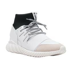 Men's Adidas Tubular Doom High Top Sock White Sneakers size