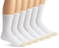 Gold Toe Men's White Cotton Crew Athletic Sock, 12-Pair Sock