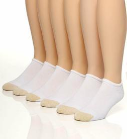 Gold Toe Men's White Cotton No Show Athletic Sock 6 pair - S
