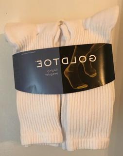 Gold Toe® Men's White Cushion Cotton Crew Socks, 6 Pair, so