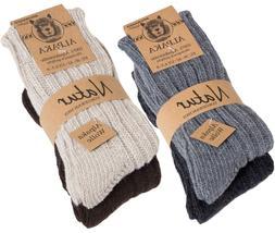BRUBAKER Men's Women's Alpaca Wool Socks Winter Socks for Me