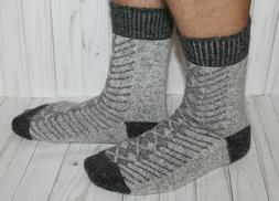 Men SOCKS gray 100% pure natural SHEEP WOOL thin warm comfor