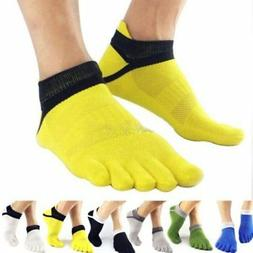 Men Sport Socks Non Slip Pilates Massage 5 Toe Socks with Fu
