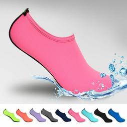 Men Women Aqua Skin Shoes Swim Water Socks Yoga Exercise Poo