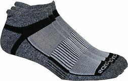 Saucony Mens 3-pk. Inferno Grey Running Socks Large Grey