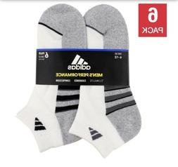 Adidas Mens 6-pair Low Cut Sock with Climalite Shoe Size 14-