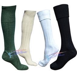 Mens 65% Wool Blend Traditional Long Hose Kilt Socks USA Sel