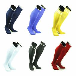 Mens Boys Sports Football Soccer Plain Long Socks Knee High
