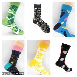 Mens Colorful Funny Design Novelty Socks - $2.50 per pair