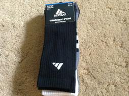 Adidas Mens Cushioned Crew Socks Mens Large Black White Grey