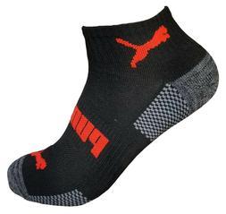mens puma athletic quarter crew socks 6 pairs