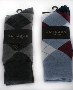 Gold Toe Mens Dress Socks Cotton Blend Size 6 - 12.5 Charcoa