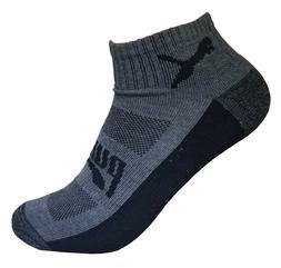 puma mens  dri fit  low cut quarter crew sock 6 pairs sock s