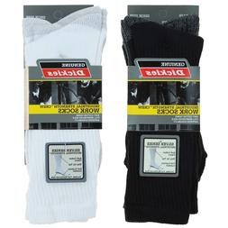 Dickies Mens Dri Tech Crew Work Socks 3 Pair Shoe Size 6-12