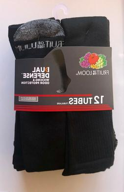 Men's Fruit of the Loom Dual Defense 12-Pair Tube Socks—