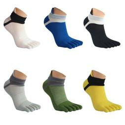 Mens Five Toe Cotton Socks Pure Sports Trainer Running Finge
