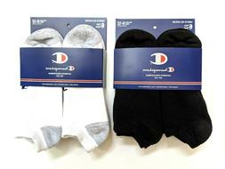 Champion Mens Full Cushion No-Show Socks Size 6-12 Large 6-P