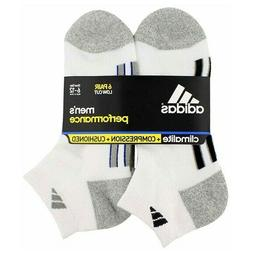 6 pack Adidas socks Mens Climalite Low cut Performance cushi