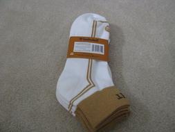 Timberland Mens No Show Boot Socks White Caramel Shoe Sz 9-1