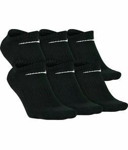 Nike Mens No Show Socks Large Black 8-12 Cotton Cushioned 6