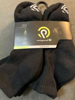 Champion Mens Performance Ankle Socks Black 6-12 New Cushion