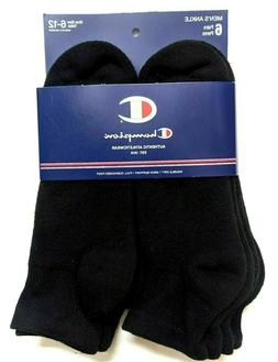 Champion Mens Full Cushioned Ankle Socks Size 6-12 Large 6-P