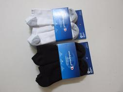 Champion Mens Performance No-Show Socks Size Large Black or