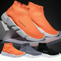 Mens Sneakers Trainers Sock Running Comfy Speed Knit Gym Cas