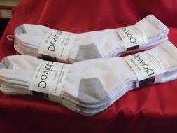 Davido Mens socks crew 100% cotton made in Italy white/gray