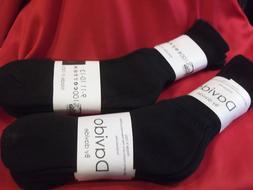 Davido Mens socks crew 100% cotton made in Italy color black