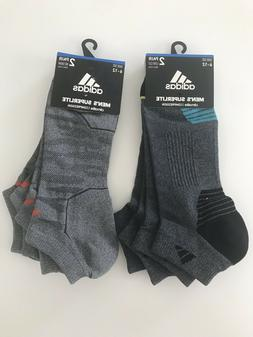 adidas Mens Superlite No Show Low Cut Socks Grey Black Orang