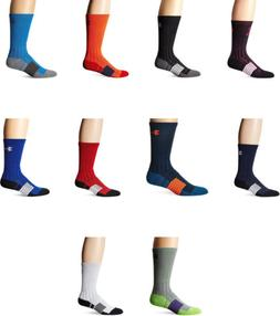 Under Armour Mens Unrivaled Crew Socks, 10 Colors
